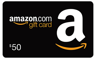 Amazon gift card for fifty dollars