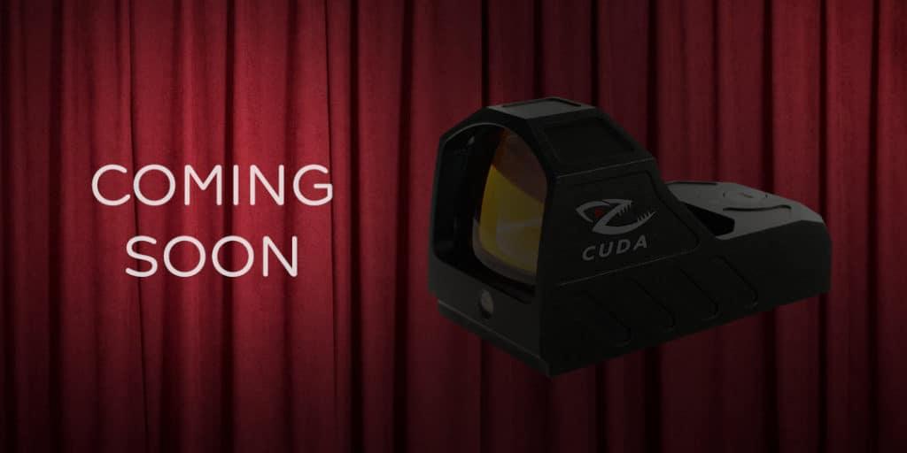 Cuda RX-795 reflex sight in shadows waiting to be revealed
